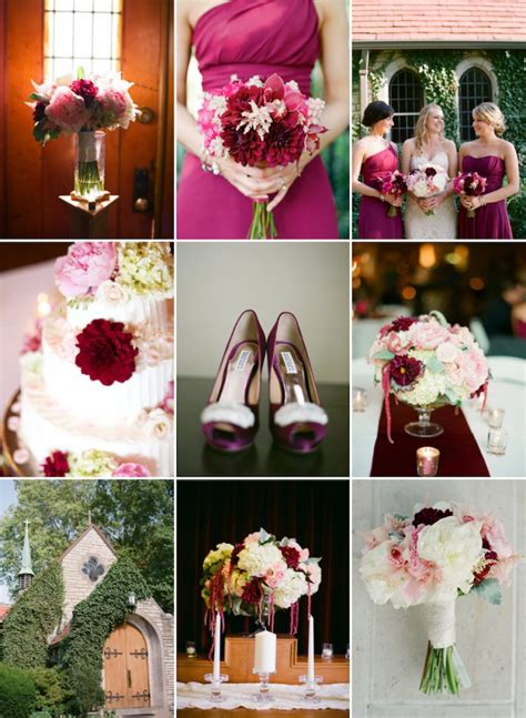 wedding color palette  love bordeaux blush  cream