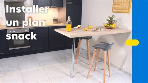 table cuisine 4 pieds comment installer une table murale dans la cuisine