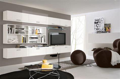 fixation meuble cuisine haut meuble mural salon offrant beaucoup d espace de rangement