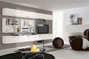 Meuble Rangement Mural : meuble mural salon offrant beaucoup d espace de rangement ~ Mglfilm.com Idées de Décoration