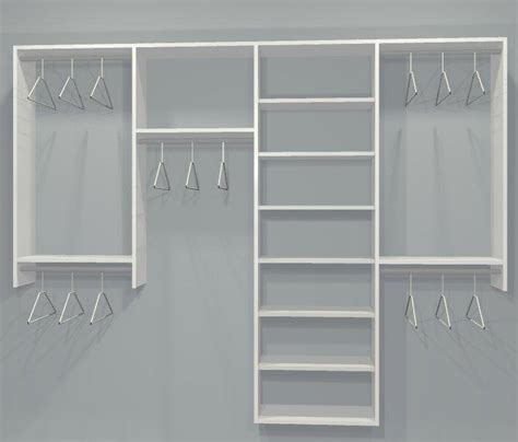 Standard Closet Kit W Shelving 4 Sect 6 9 5ft One