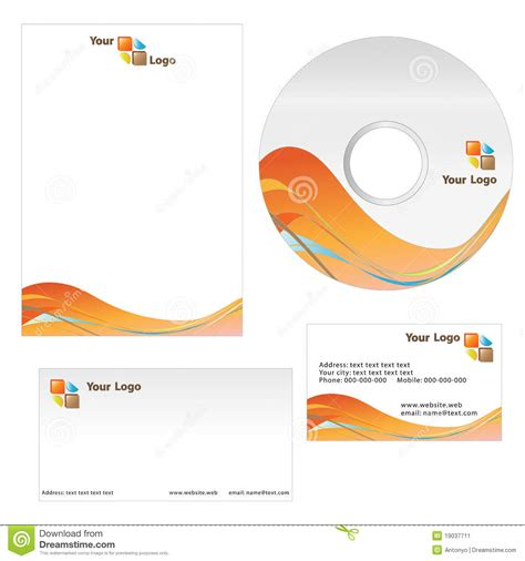 business card letterhead template stock image image