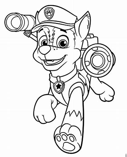 Paw Patrol Chase Coloring Pages Colouring Printable