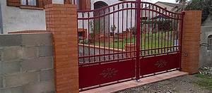 Portail En Fer Lapeyre : portails battants en acier galvanis ou thermolaqu ~ Premium-room.com Idées de Décoration