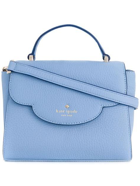 kate spade leather mini makayla shoulder bag  blue lyst