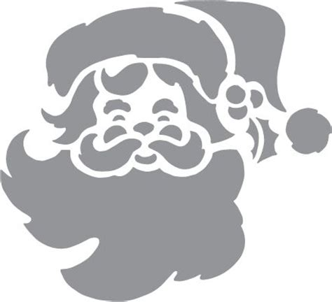 Reideer And Father Christmas Template For Windows by Glass Etching Stencil Of Santa Claus In Category