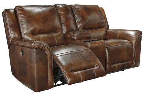 Coleman Loveseat by Jayron Harness Reclining Loveseat With Console From