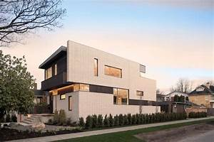 2996 West 11th Residence with punctuated white brick ...