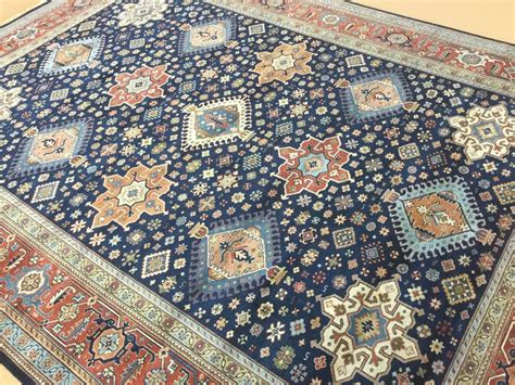 blue rug ebay 9 x 12 navy blue rust karajeh area rug