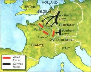 Image result for Battle of France began when Germany began an offensive in Southern France.