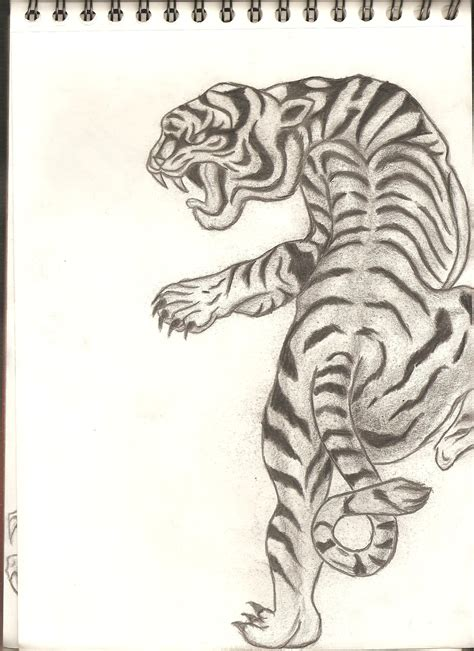 japanese tiger drawing