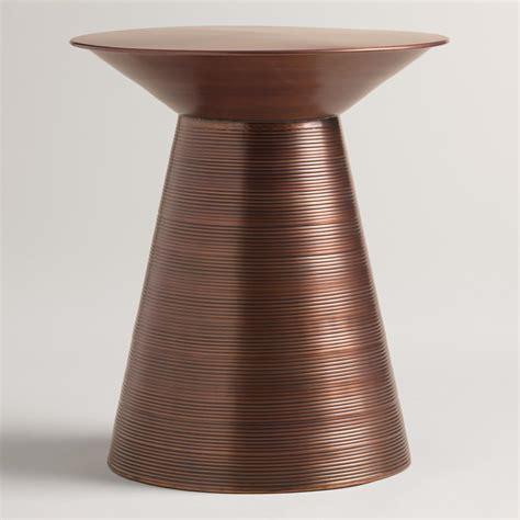 metal drum side table copper metal nali drum table world market