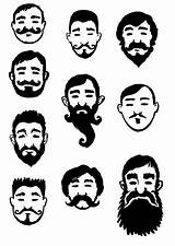 Sideburns Goatee Vector Illustrations Clip Returned Zero Sorry Results sketch template