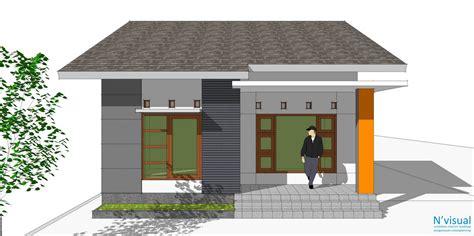 gambar desain rumah asri  lahan   contoh