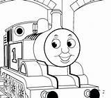 Train Thomas Coloring Tank Drawing Caboose Track Sherman Engine Tracks Printable Getcolorings Getdrawings sketch template