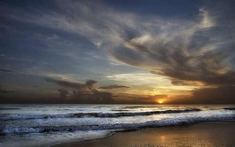 magnificent ocean cloud sunset wallpapers  hd