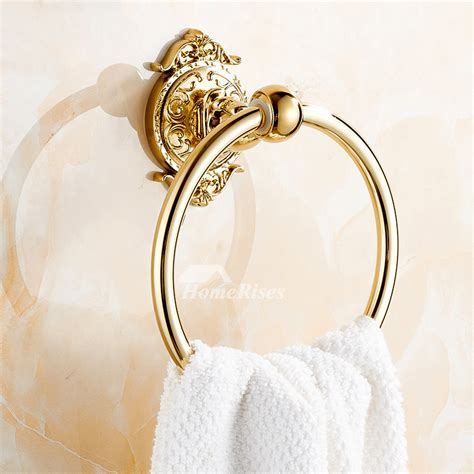 unique towel rings alloy wall mount chromepolished brass