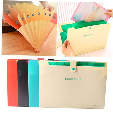 Office Supplies Paper Holder by 8 Layer A4 Paper File Folder Cover Holder Document Storage