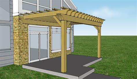 pergola size pergola design ideas attach pergola to house enhanced size 20feet x 12feet and cove cut modern