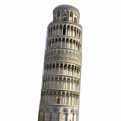 Pisa Tower Leaning Italy Cardboard Transparent Cutout