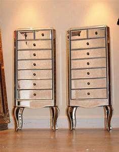 Pair Mirrored Chests Of Drawers Chest Tall Boy