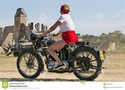 Vintage Army Motorcycle Editorial Photo Image 32782741