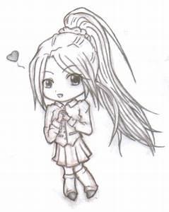 Chibi Girl - Long Ponytail by Bre38 on DeviantArt