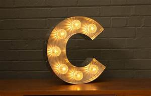 marquee light up letter c goodwin goodwintm london With letter c light