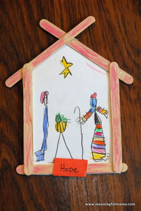hope and a nativity craft allfreekidscrafts com