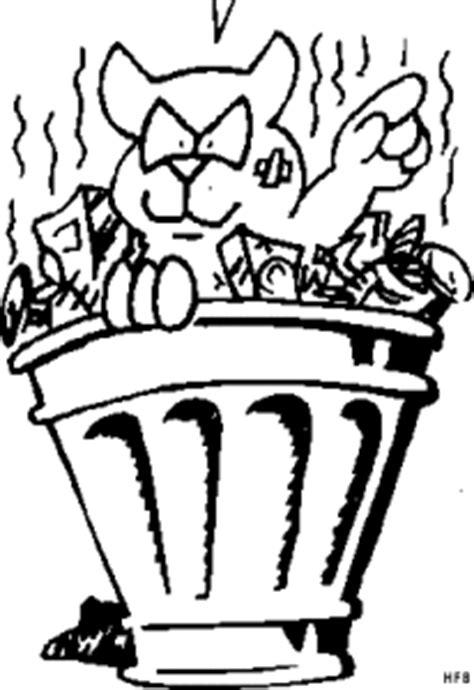 katze im muell ausmalbild malvorlage tiere
