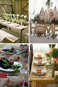 rustic christmas table decoration ideas - Rustic Christmas Table Decorations