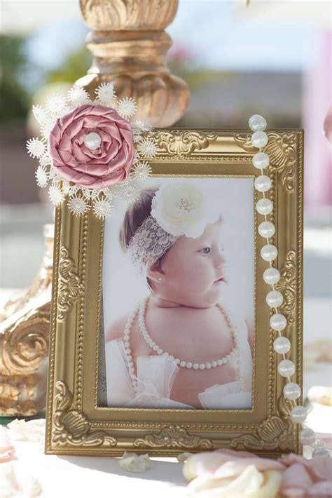 pink  gold baptism party ideas baptism party gold