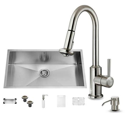 undermount stainless kitchen sinks vigo all in one undermount stainless steel 32 in 0 6604