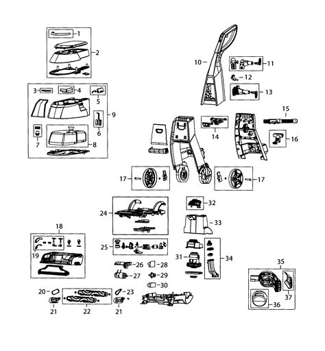 Wiring Diagram For Bissell Vacuum Cleaner by Excellent Bissell Carpet Cleaner Parts Lift