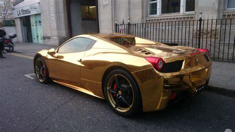 golden ferrari price check out this 340 000 gold ferrari 458 spider