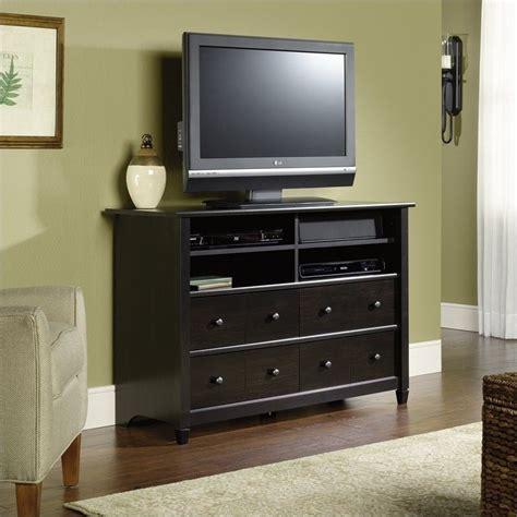 sauder edge water highboy estate black tv stand
