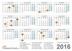 Kalender Zum Ausdrucken 2016 : kalender 2016 zum ausdrucken a4 pdf druckerfreundlich ~ Whattoseeinmadrid.com Haus und Dekorationen