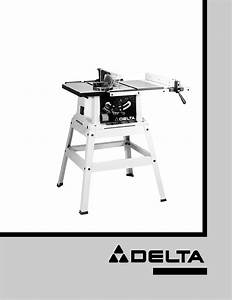 Delta Saw 36 Stand  User Guide