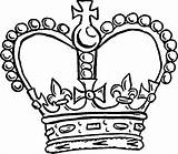 Crown Coloring Pages Royal Template Pope Queen King Drawing Crowns Colouring Netart Getdrawings Printable Getcolorings sketch template