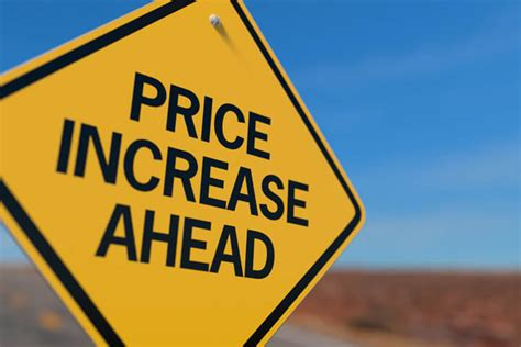 price increase  road sign  image