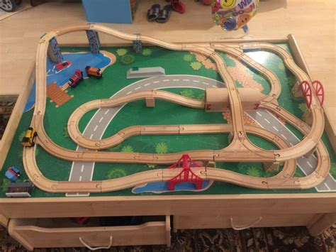 images  wooden train layout  pinterest