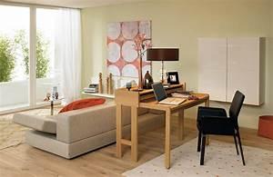 Schreibtisch Für Wohnzimmer : kombi r ume als arbeitszimmer sch ner wohnen ~ Sanjose-hotels-ca.com Haus und Dekorationen