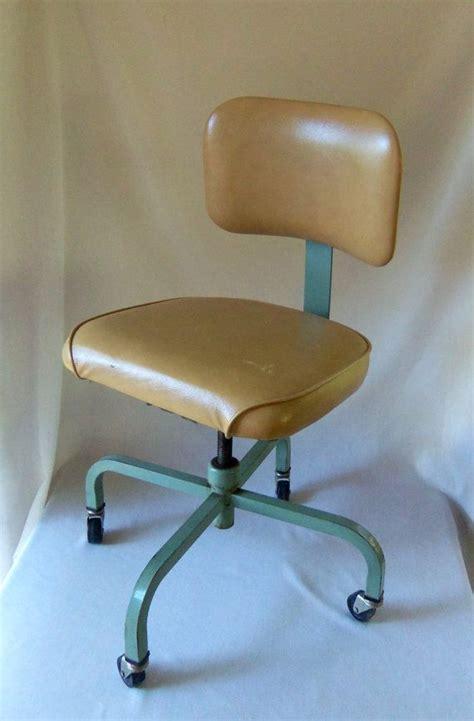 vintage industrial office chair machine age treasury item