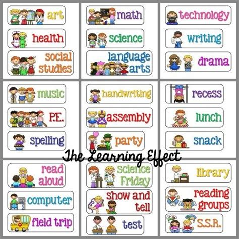 free printable daily schedule cards classroom blah 812 | 3caea961b5232e28113f919814614572