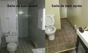 Rénovation Salle De Bain Avant Après : salle de bain avant apr s gml construction ~ Dallasstarsshop.com Idées de Décoration