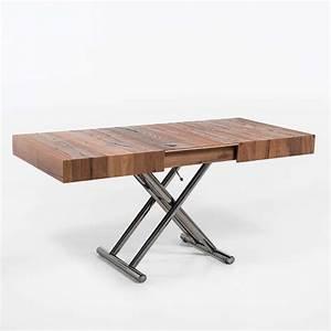 Table Extensible Bois : table relevable extensible pour petit espace en bois ulisse 4 ~ Teatrodelosmanantiales.com Idées de Décoration