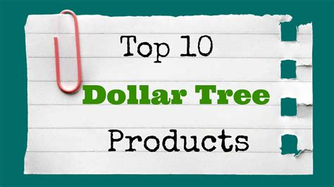 Top 10 Dollar Tree Products Youtube