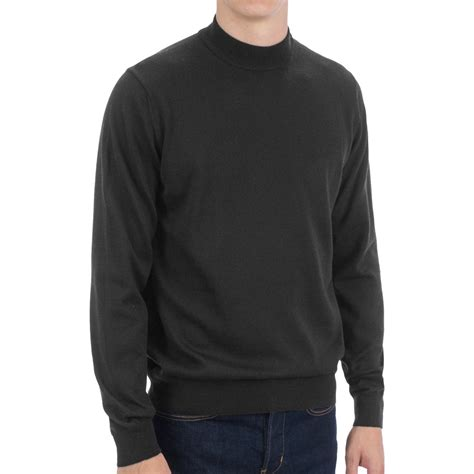 mens wool turtleneck sweater toscano mock turtleneck sweater merino wool for