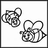 Bee Bumble Coloring Pages Cute sketch template