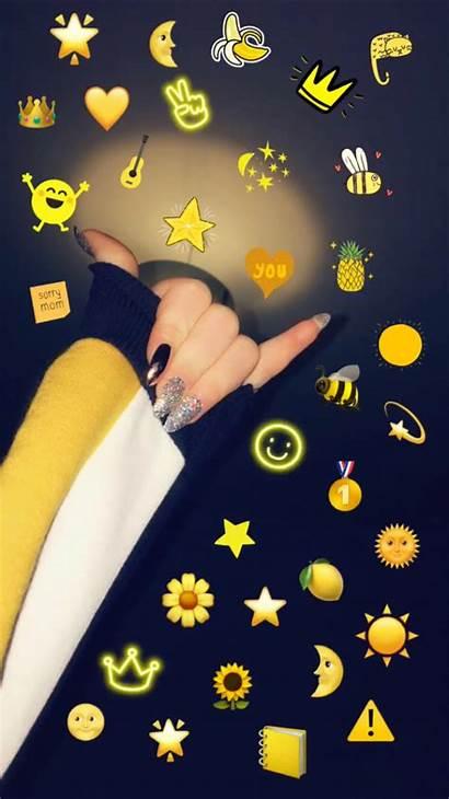 Aesthetic Iphone Wallpapers Emoji Snapchat Cool Sarah